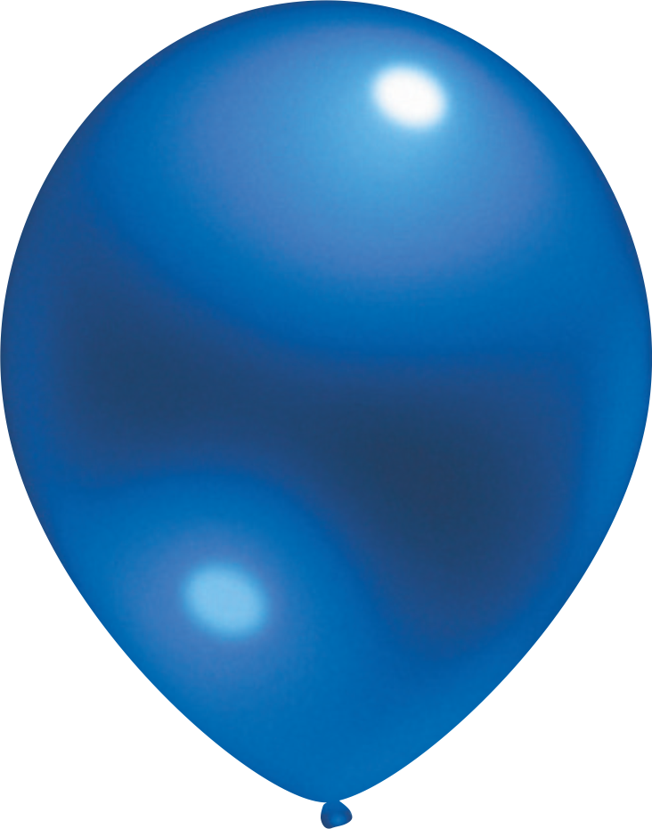 Ballon Crystal Blau