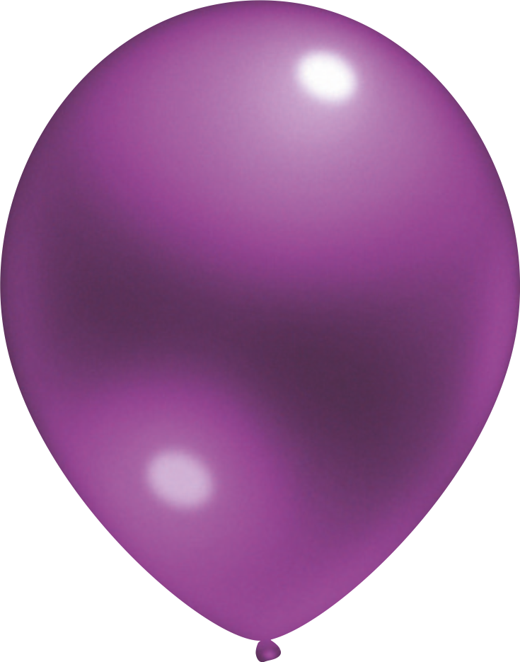 Ballon Crystal Lila