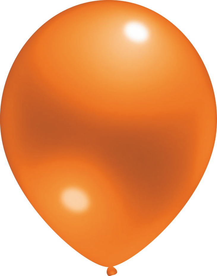 Ballon Crystal Orange